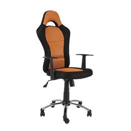 Scaun directorial SL Q039, negru-portocaliu