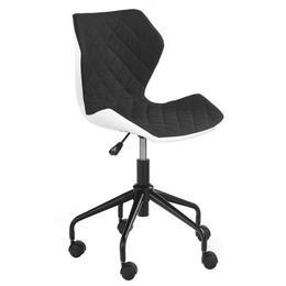 Scaun birou copii HM Matrix, alb/negru