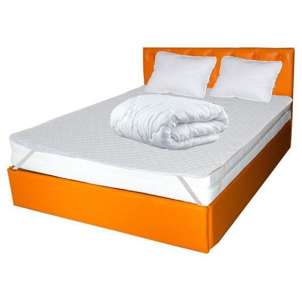 Set Saltea CRONOS HR Spring Comfort plus 2 perne plus Husa hipoalergenica plus Pilota iarna microfibra 180×200, 160x200x24