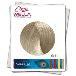Vopsea Permanenta - Wella Professionals Koleston Perfect nuanta 9/11 blond luminos cenusiu intens