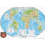 Harta politica a lumii + Harta fizica a lumii (pliata), editura Carta Atlas