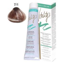 Crema Coloranta Permanenta – Vitality's Linea Capillare Dye Cream, nuanta 7/1 Blond Chestnut, 100ml de la esteto.ro