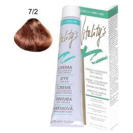 Crema Coloranta Permanenta – Vitality's Linea Capillare Dye Cream, nuanta 7/2 Tawny Blond, 100ml de la esteto.ro