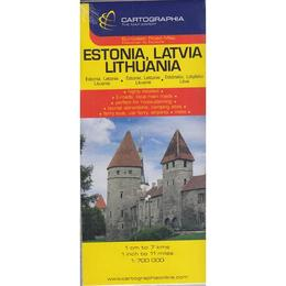 Harta Estonia, Latvia, Lithuania, editura Cartographia