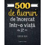 500 de lucruri de incercat intr-o viata. Vol.2 - Elise de Rijck, editura Litera