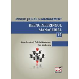 Minidictionar De Management 15: Reengineeringul Managerial - Ovidiu Nicolescu, editura Pro Universitaria