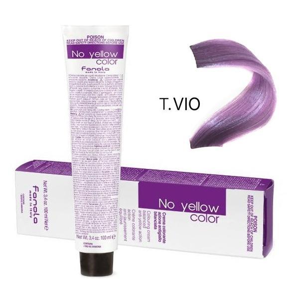 Vopsea Crema Anti-Ingalbenire Fanola No Yellow Color T. VIO Toner Violet, 100ml imagine produs