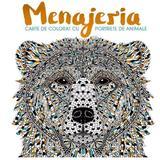 Menajeria - Carte de colorat, portrete de animale, editura Litera