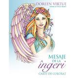 Mesaje de la ingeri. Carte de colorat - Doreen Virtue, editura Curtea Veche