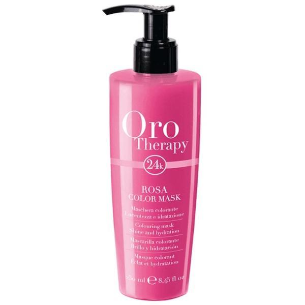Masca Coloranta - Fanola Oro Therapy Rosa Color Mask, roz, 250ml imagine produs