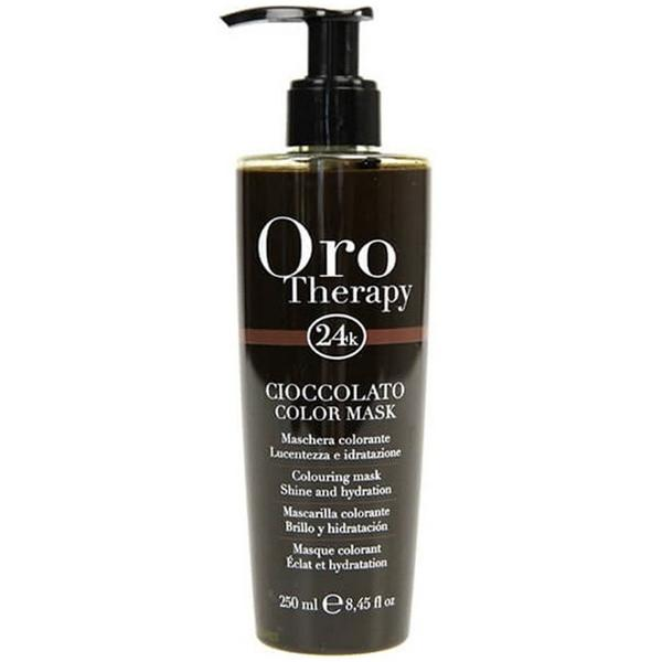 Masca Coloranta - Fanola Oro Therapy Cioccolato Color Mask, ciocolatiu, 250ml imagine produs