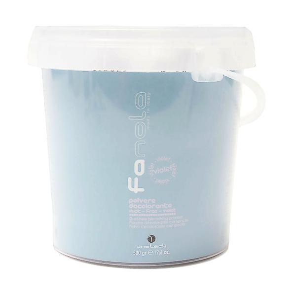 Pudra Decoloranta Non-Volatila Violet - Fanola Bleaching Powder Dust-Free Violet, 500g imagine produs
