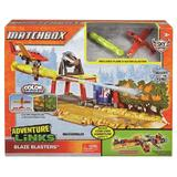 Set de joaca avion Mattel Matchbox cu tun pentru stins incedii si pista