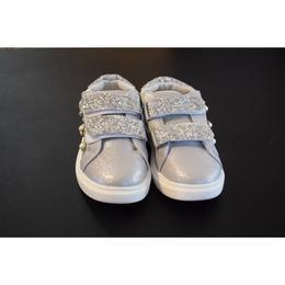 Adidasi argintii pentru fetite, cu margele 30