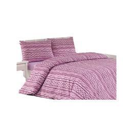 Lenjerie de pat Tweed lila, Gecor, 220x200 cm