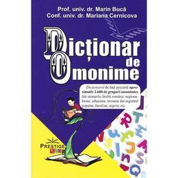 Dictionar de omonime - Marin Buca, Mariana Cernicova, editura Prestige