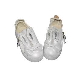 Adidasi albi - model iepurasi pentru fetite, marime nr 28