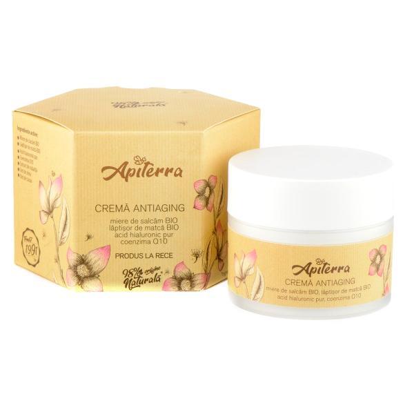 Crema Antiaging Apiterra, Apicola Pastoral Georgescu, 50ml imagine produs