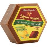 Sapun Hexagonal Vegetal cu Miere si Ciocolata Albina Carpatina, Apicola Pastoral Georgescu, 100g