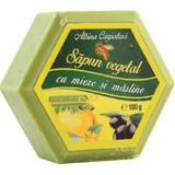 Sapun Hexagonal Vegetal cu Miere si Masline Albina Carpatina, Apicola Pastoral Georgescu, 100g