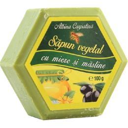 Sapun Hexagonal Vegetal cu Miere si Masline Albina Carpatina, Apicola Pastoral Georgescu, 100g de la esteto.ro