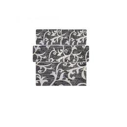 Lenjerie de pat 2 persoane, bumbac, imprimeu alb cu negru, Gecor