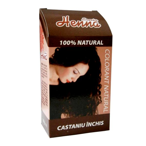 Colorant Natural Henna Sonia, Castaniu Inchis, 100 g imagine produs