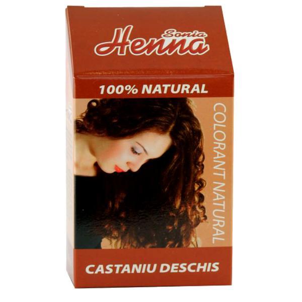 Colorant Natural Henna Sonia, Castaniu Deschis, 100 g imagine produs