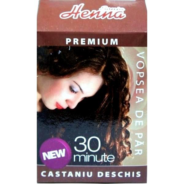 Vopsea de Par Premium Henna Sonia, Castaniu Deschis, 60 g imagine produs