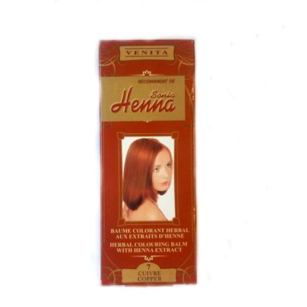 Balsam Colorant cu Extract de Henna Henna Sonia, Nr.7 Cupru, 75 m imagine produs