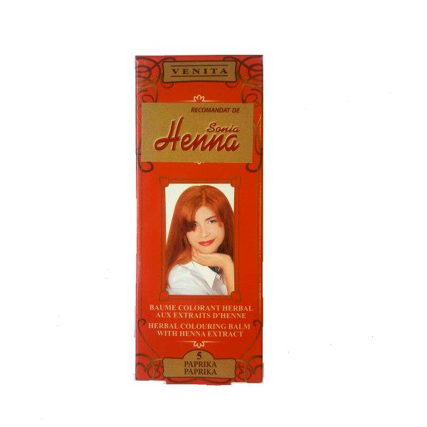 Balsam Colorant cu Extract de Henna Henna Sonia, Nr.5 Paprika, 75 ml imagine produs