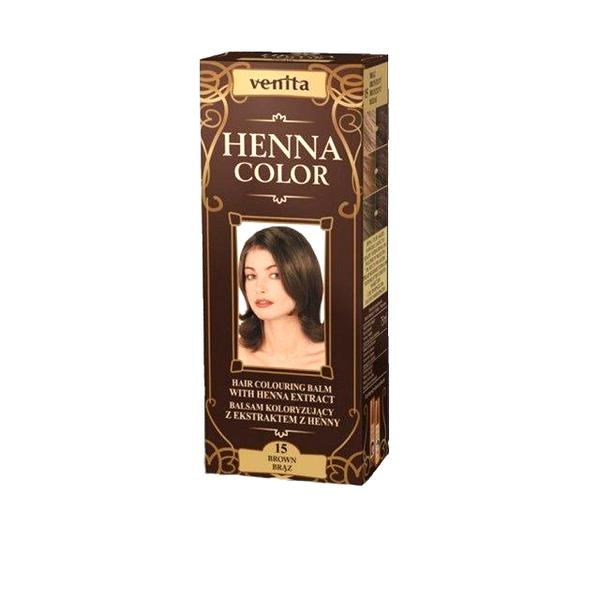 Balsam Colorant cu Extract de Henna Henna Sonia, Nr.15 Saten Inchis, 75 ml imagine produs