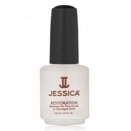 Tratament Restaurare Unghii - Jessica Restoration Base Coat for Post-Acrylic or Damaged Nails, 14.8ml