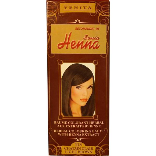 Balsam Colorant cu Extract de Henna Henna Sonia, Nr.113 Saten Deschis 75 ml imagine produs