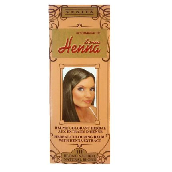 Balsam Colorant cu Extract de Henna Henna Sonia, Nr.111 Blond Natural 75 ml imagine produs
