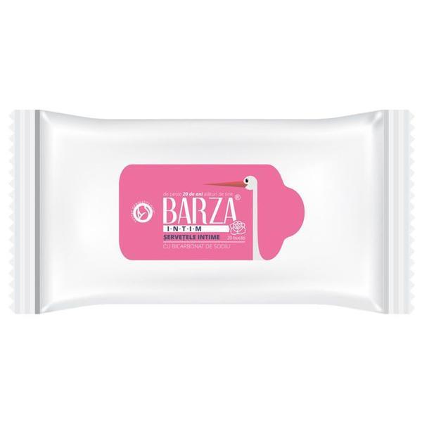 Servetele intime cu bicarbonat de sodiu Barza, 20 buc
