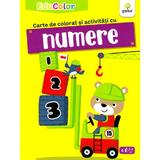 Carte de colorat si activitati cu numere. EduColor, editura Gama