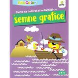 Carte de colorat si activitati cu semne grafice. EduColor, editura Gama