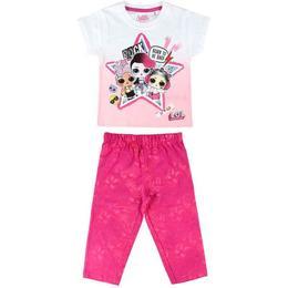 Pijama vara fetite pantaloni si tricou LOL Surprise Rock marimea 134-140 cm , 9-10 ani