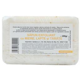 Sapun Exfoliant cu Miere, Lapte si Tarate Apidava, 200g