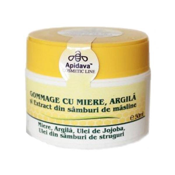 Crema Gommage cu Miere si Argila Apidava, 50ml imagine produs