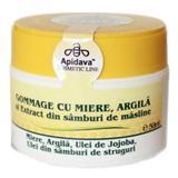 Crema Gommage cu Miere si Argila Apidava, 50ml