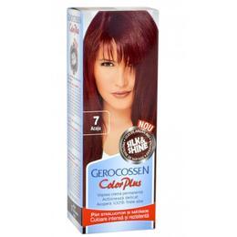 Vopsea de Par Silk&Shine Gerocossen Color Plus, nuanta 7 Acaju, 50 g de la esteto.ro