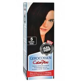 Vopsea de Par Silk&Shine Gerocossen Color Plus, nuanta 5 Castaniu Inchis, 50 g de la esteto.ro