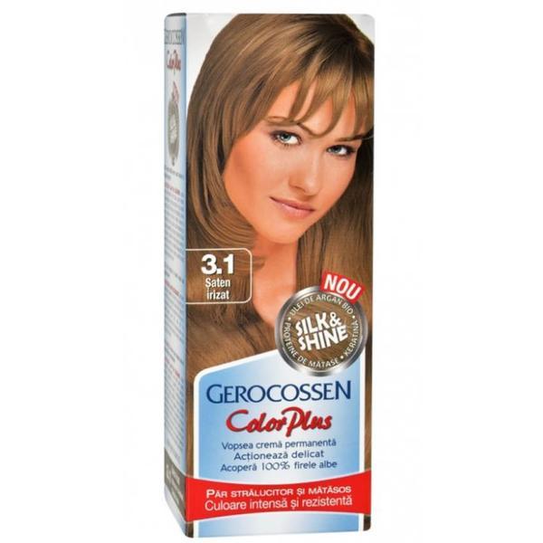Vopsea de Par Silk&Shine Gerocossen Color Plus, nuanta 3.1 Saten Irizat, 50 g poza