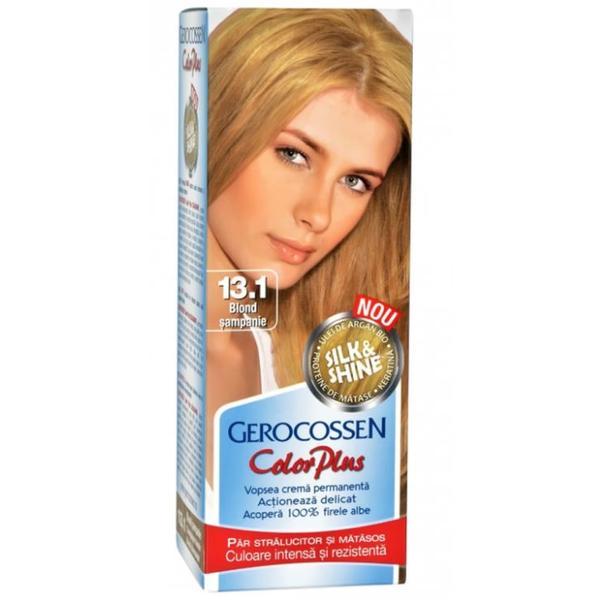 Vopsea de Par Silk&Shine Gerocossen Color Plus, nuanta 13.1 Blond Sampanie, 50 g poza