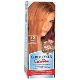 Vopsea de Par Silk&Shine Gerocossen Color Plus, nuanta 12 Blond Coniac, 50 g de la esteto.ro