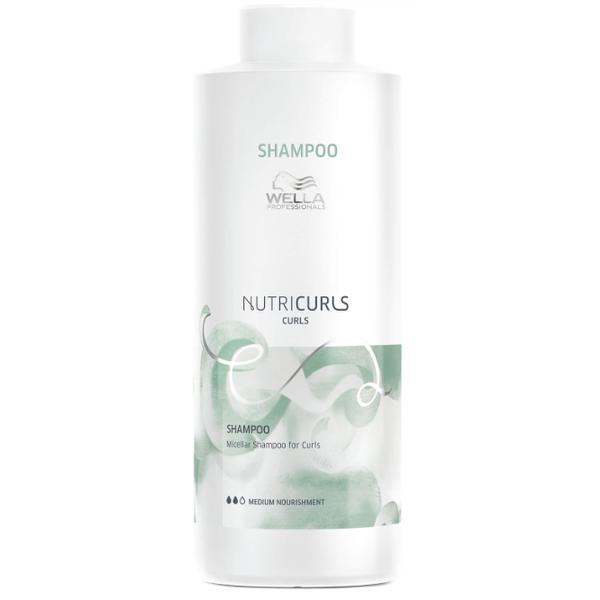 Sampon Micelar pentru Par Cret - Wella Professionals Nutricurls Micellar Shampoo for Curls, 1000ml
