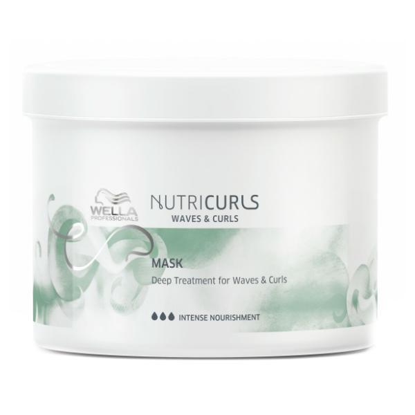 Masca Tratament pentru Par Cret si Ondulat - Wella Professionals Nutricurls Mask Deep Treatment for Waves & Curls, 500ml