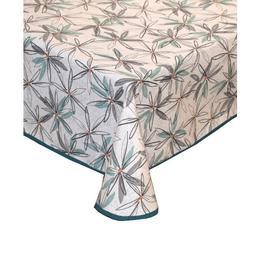 Fata de masa anti-pete Casa de bumbac, Hoa, 180x140 cm, floral, alb, verde